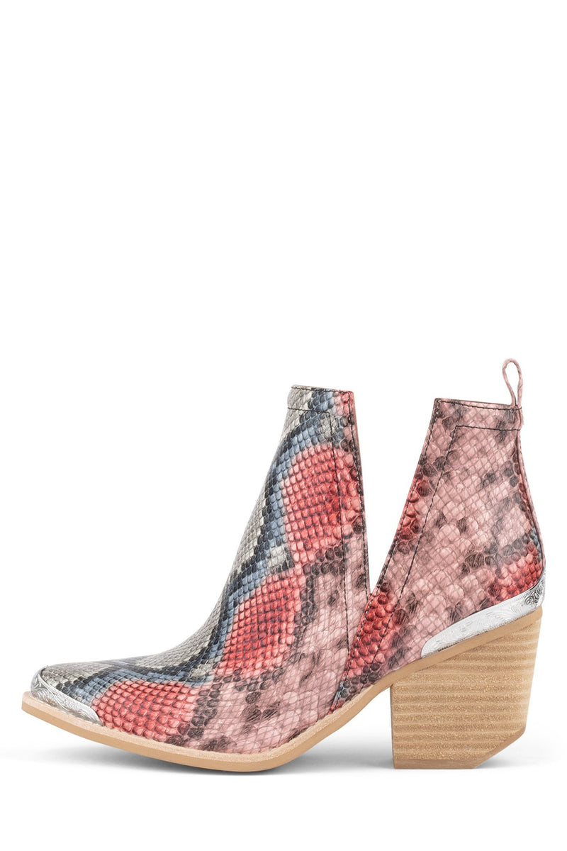 CROMWELL Heeled Bootie ST Red Blue Snake 5