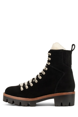 CULVERT Boot Jeffrey Campbell Black Suede Ivory 6
