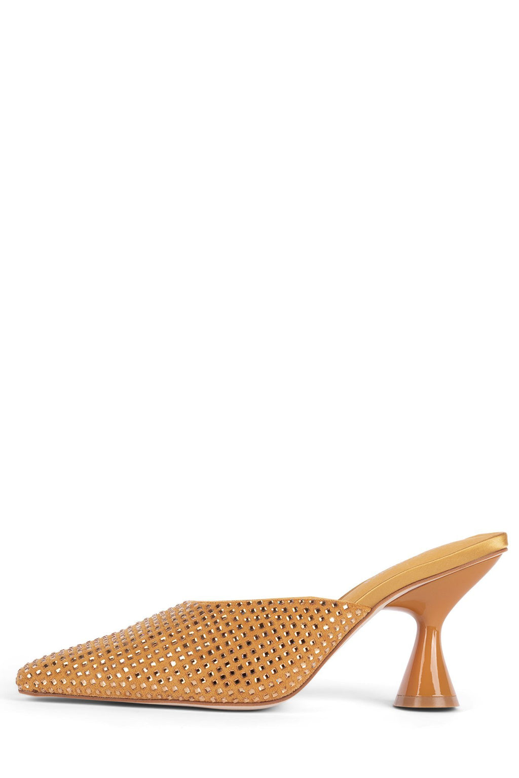 CYRILL-2J Heeled Mule STRATEGY Yellow Satin Gold 5