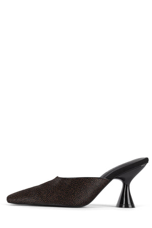 CYRILLIC-2 Heeled Mule STRATEGY Beige Black Jaguar 6