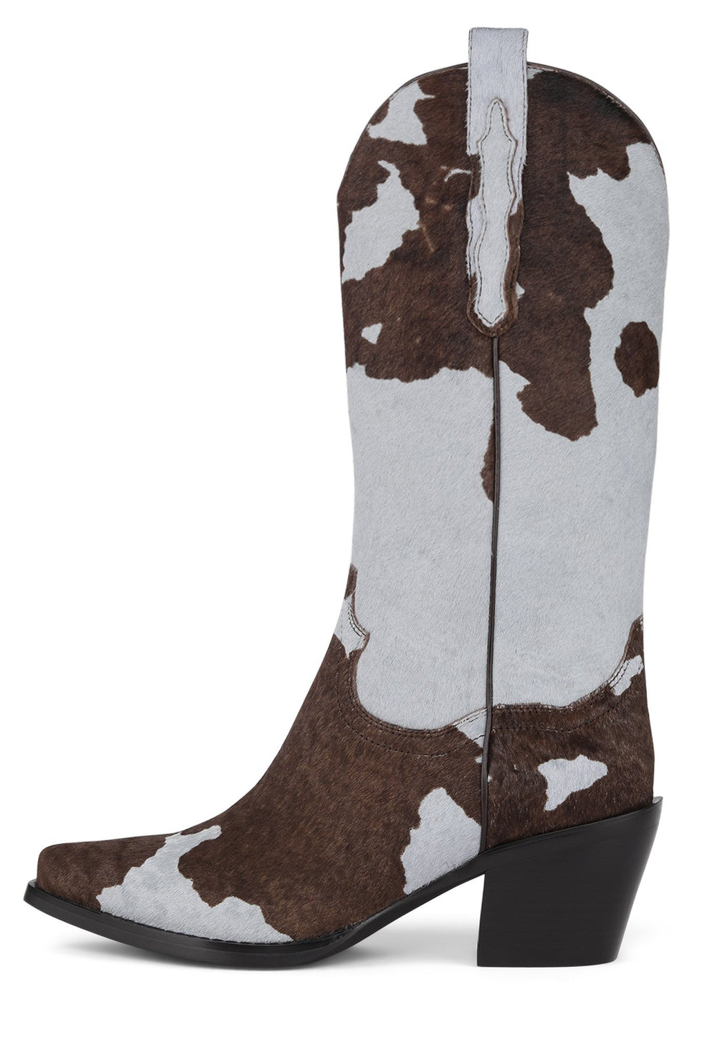 DAGGET-F Mid-Calf Boot Jeffrey Campbell Baby Blue Brown Cow 6