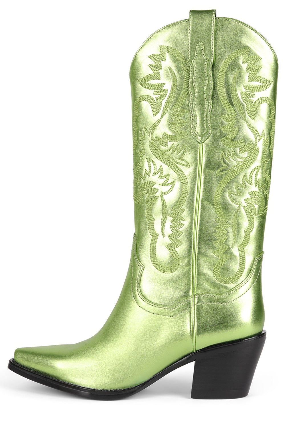 DAGGET Mid-Calf Boot Jeffrey Campbell Green Metallic 6