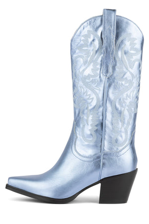 DAGGET Mid-Calf Boot ST Light Blue Metallic 6