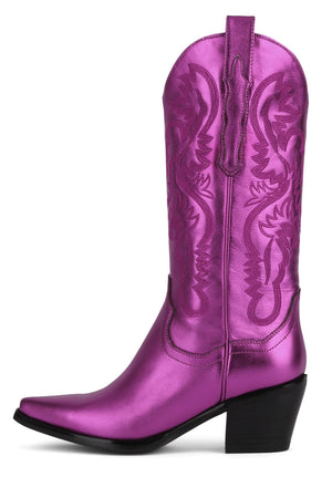 DAGGET Mid-Calf Boot STRATEGY Fuchsia Metallic 6