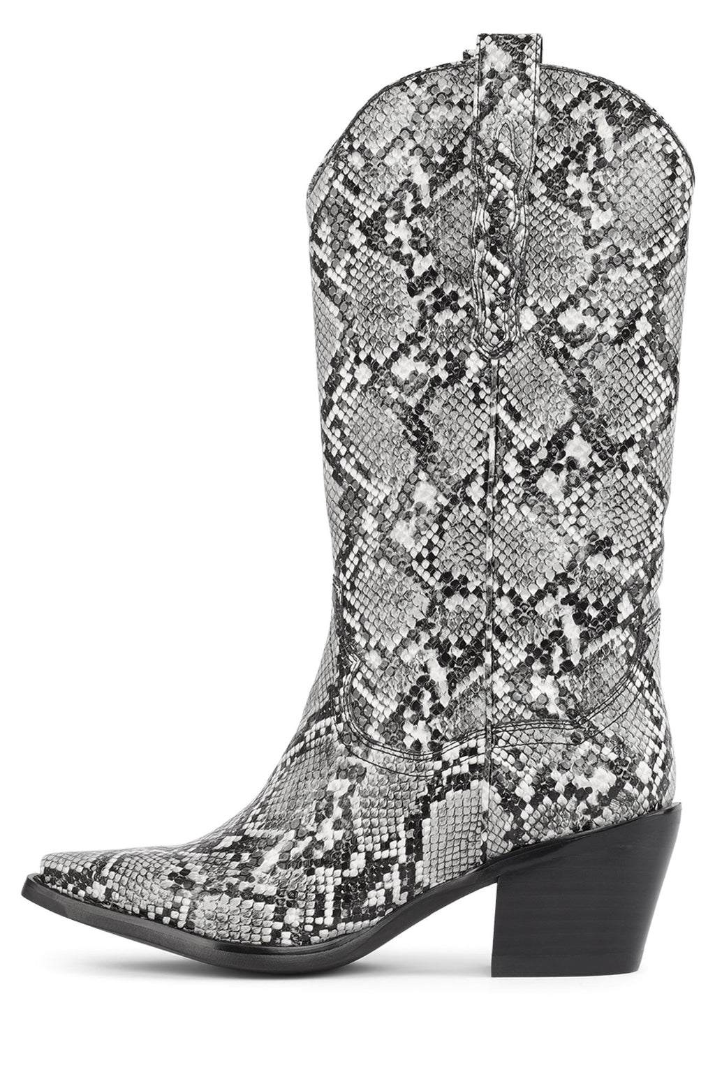 DAGGET Mid-Calf Boot STRATEGY Grey Snake 6