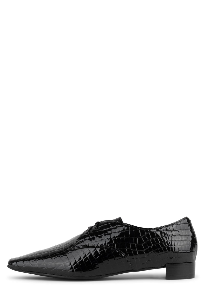 DASH Oxford YYH Black Croco Pat 6