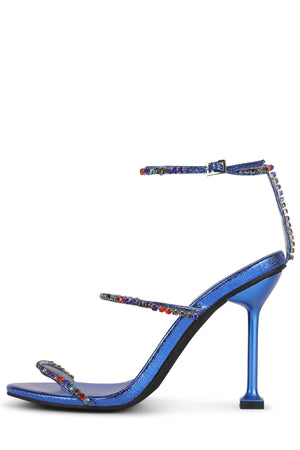 DEMONIC Heeled Sandal YYH Blue Metallic Multi 6