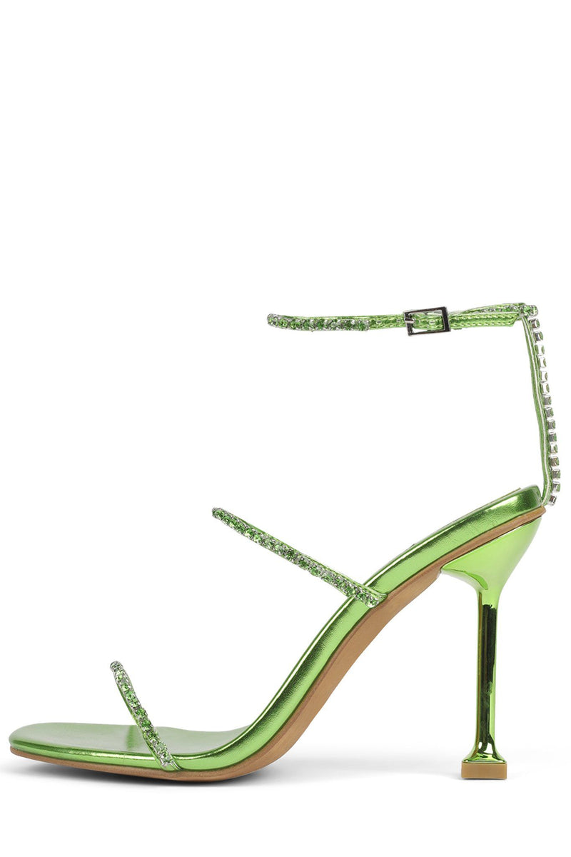 DEMONIC Heeled Sandal YYH Green Metallic Multi 6