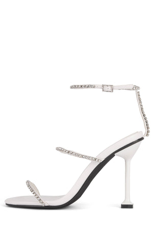 DEMONIC Heeled Sandal YYH White Clear 6