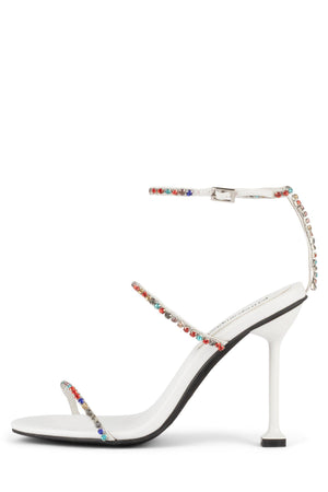 DEMONIC Heeled Sandal YYH White Multi 6