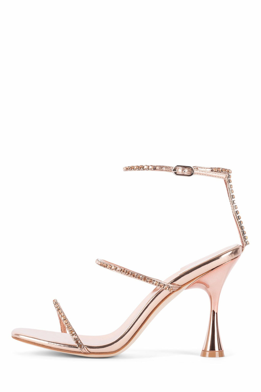 DEMONICA Heeled Sandal ST Rose Gold Combo 6