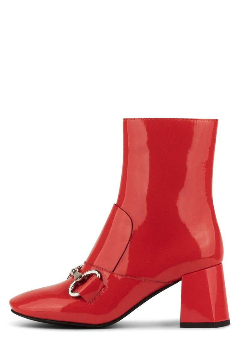 DENEUVE-2L Heeled Boot YYH Red Patent 6