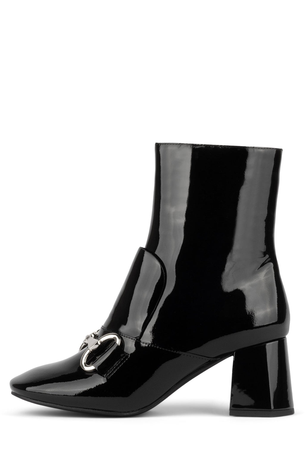 DENEUVE-2L Heeled Bootie Jeffrey Campbell Black Patent 6