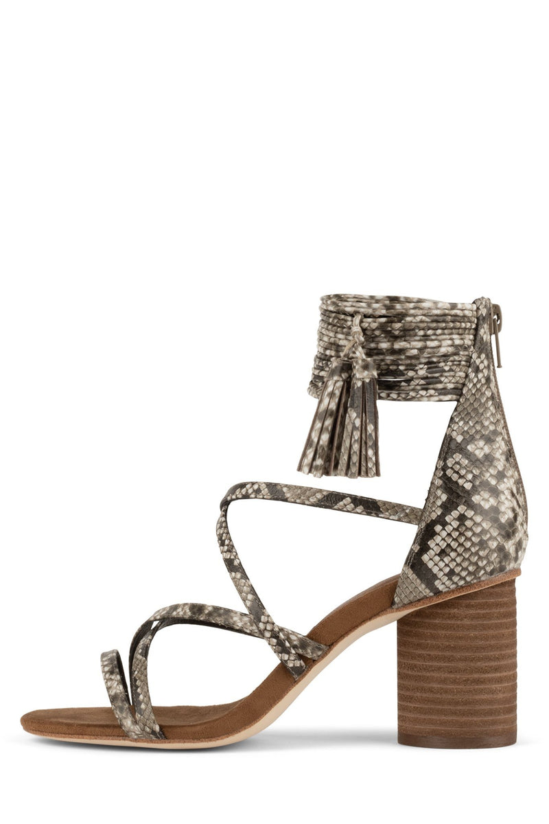 DESPINA Heeled Sandal Jeffrey Campbell Natural Python Combo 6