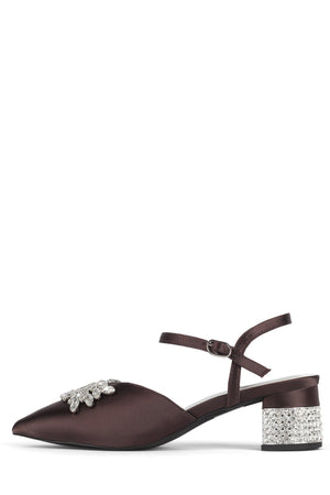 DESTINIA-J Pump STRATEGY Brown Satin Silver 6