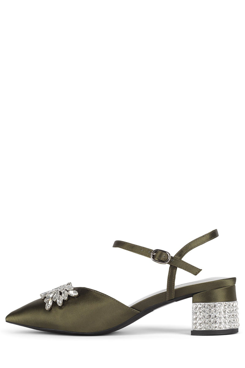 DESTINIA-J Pump STRATEGY Khaki Satin Silver 6
