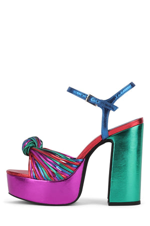 DISQUE-O Platform Sandal YYH Bright Metallic Multi 6