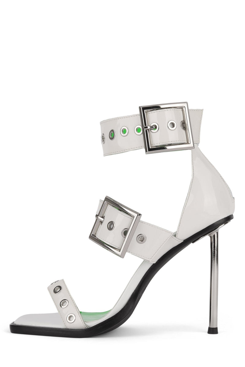 DOMINUS-OT Heeled Sandal YYH White Patent 6