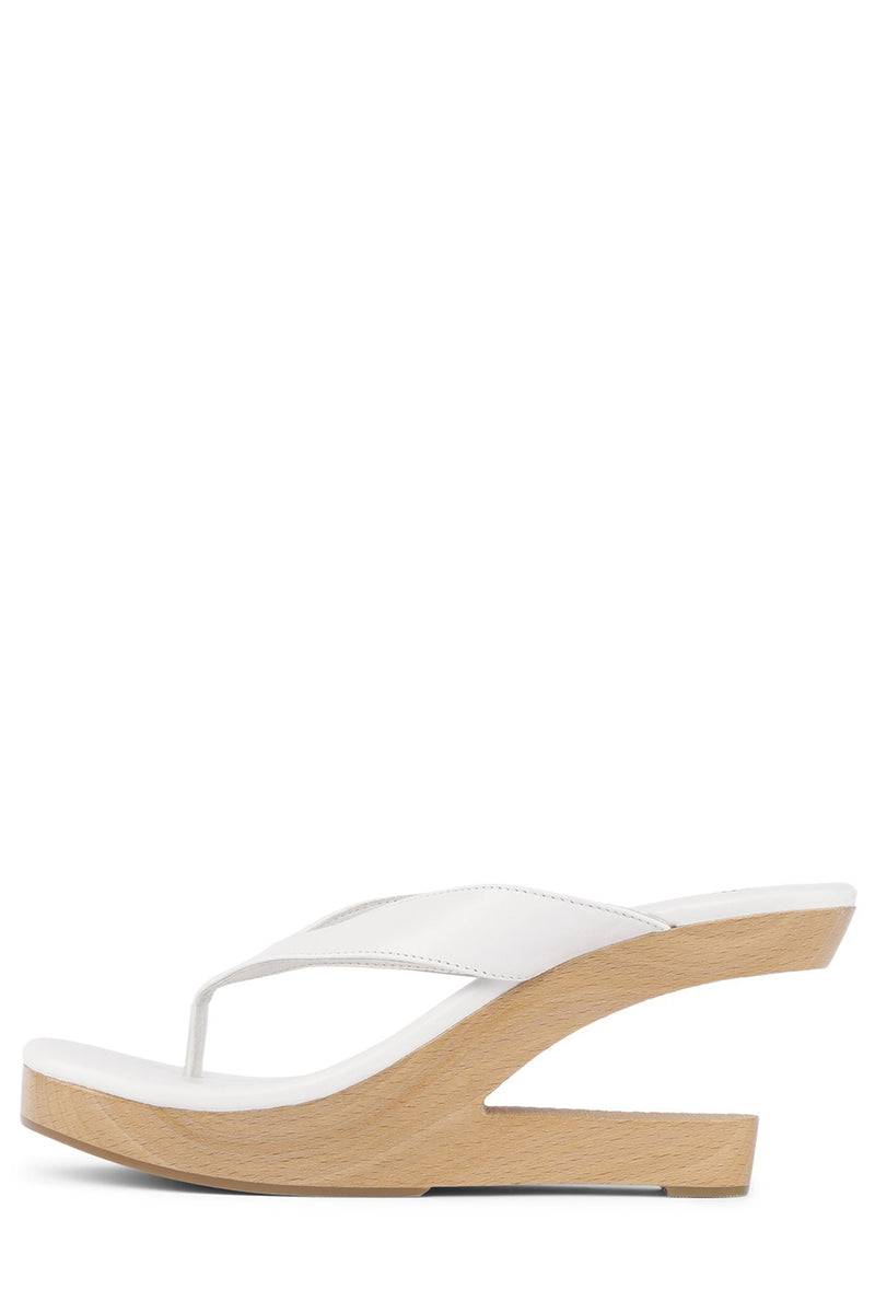 DREAMIN Wedge Sandal HS White 6