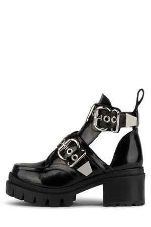 DRIFTER Platform Boot Jeffrey Campbell Black Box Silver 6