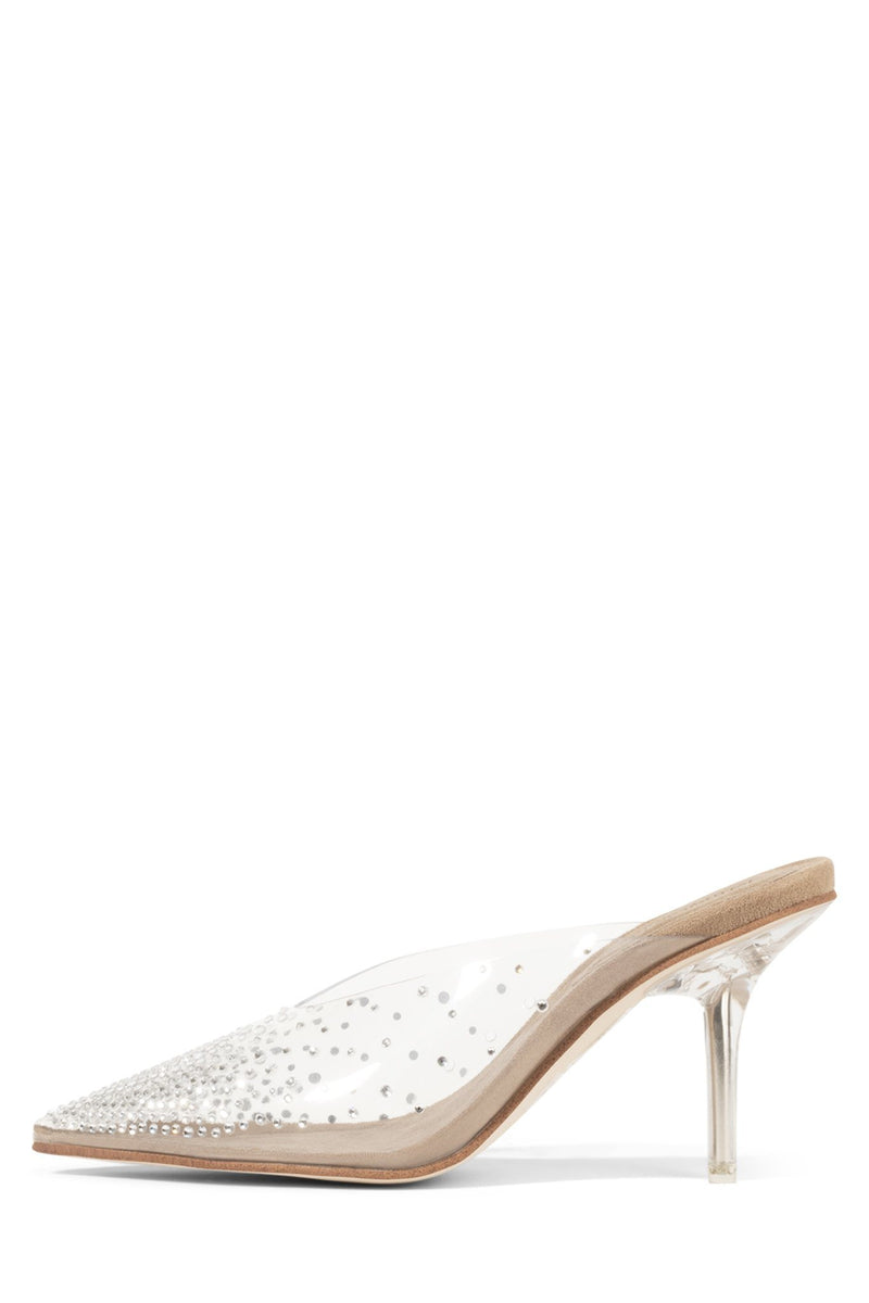 DRIZELLA Heeled Mule YYH Clear Nude Suede 6