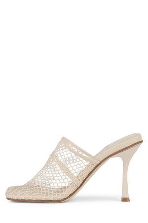 DYER Heeled Mule YYH Natural Mesh 6