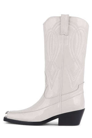 EAGLES Mid-Calf Boot RB Ice Crinkle Patent 6