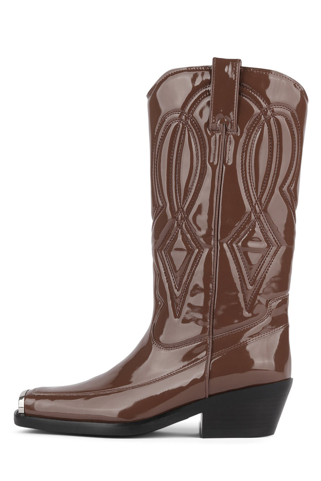 EAGLES Mid-Calf Boot YYH Dark Brown Pat 6