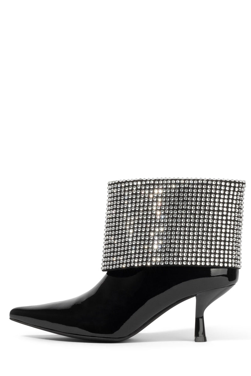 EGNYTE-JC Heeled Boot YYH Black Patent Silver 6