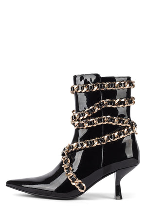 EGNYTE-MC Heeled Bootie YYH Black Patent Gold 6