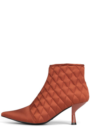 EGNYTE-Q Heeled Bootie YYH Orange Satin 6