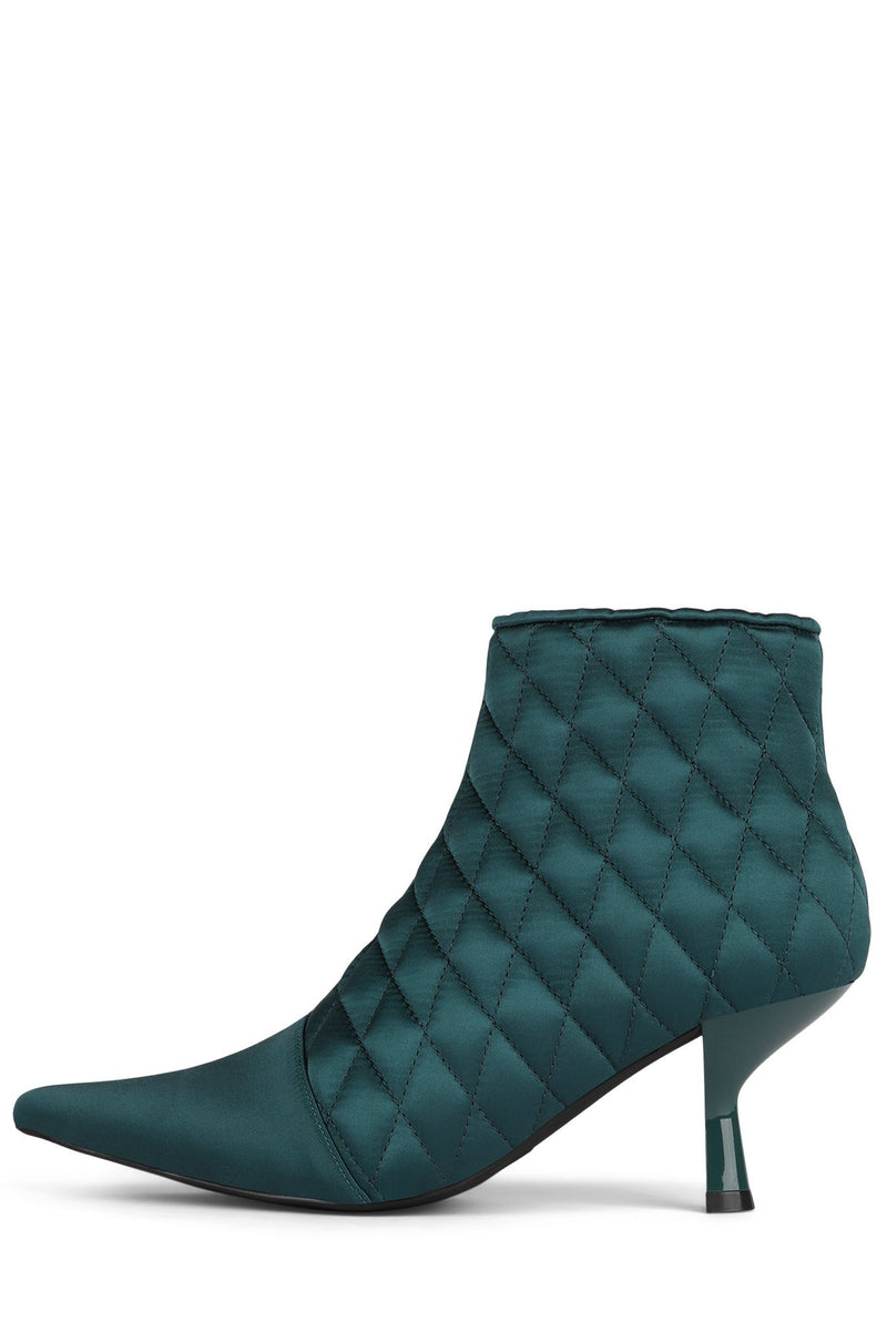 EGNYTE-Q Heeled Bootie YYH Teal Satin 6