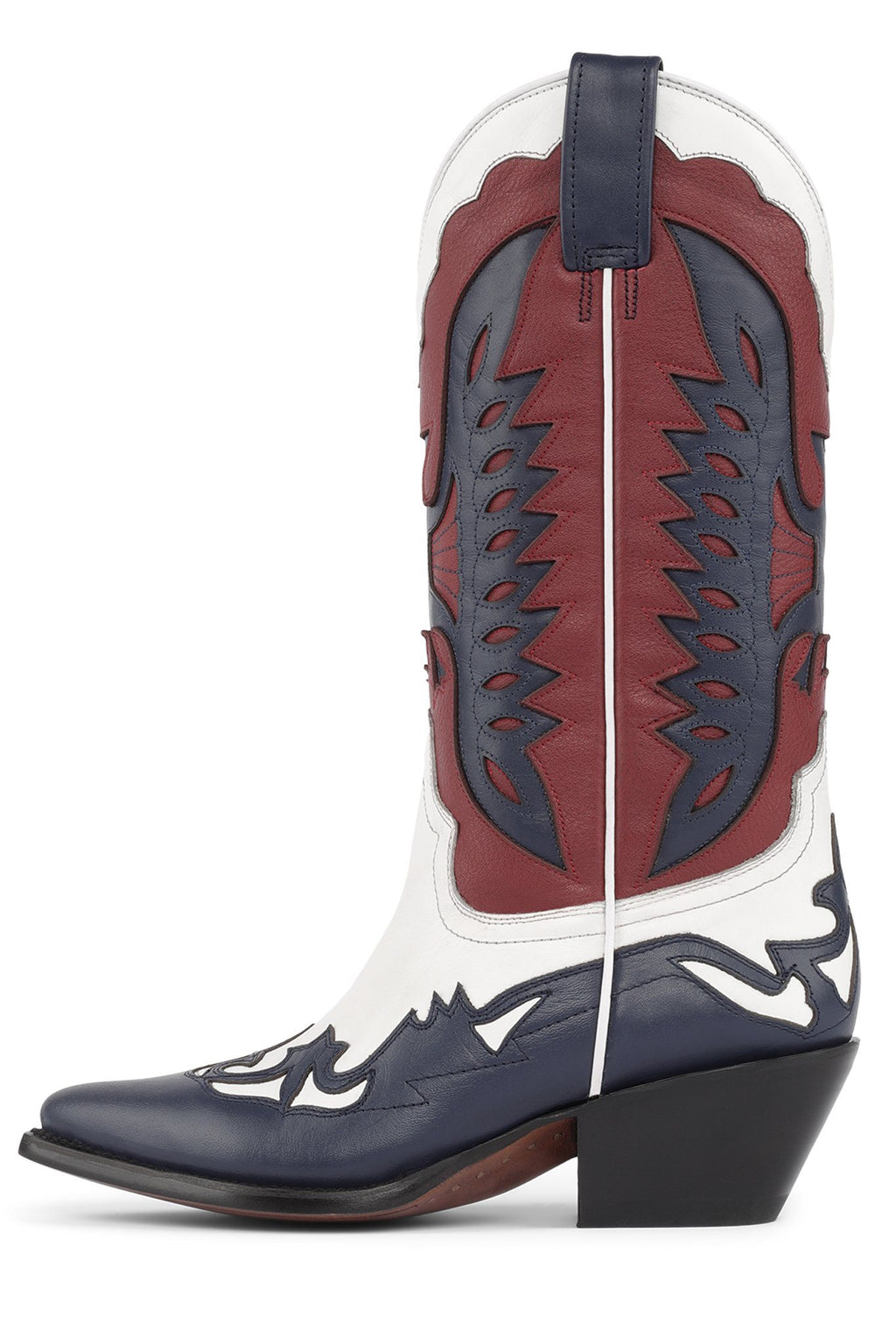 EL-PHOENIX Mid-Calf Boot Jeffrey Campbell Red White Blue 6