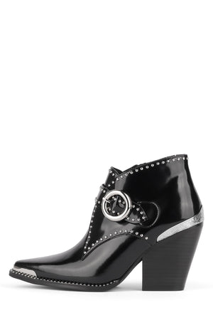 ELEVATE-ST Bootie Jeffrey Campbell Black Box Silver 6