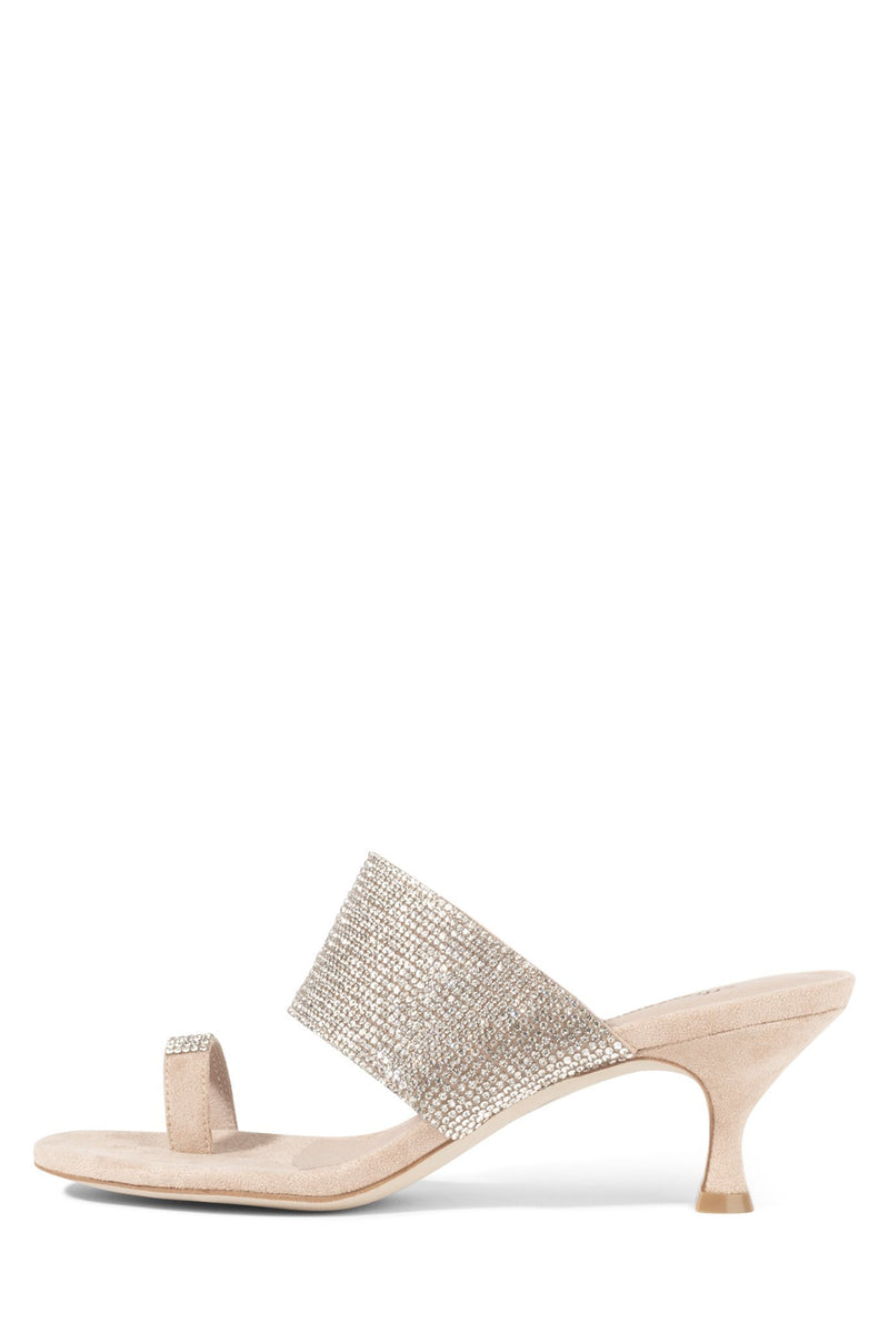 ELINA Heeled Sandal ST Nude Suede Champagne 6