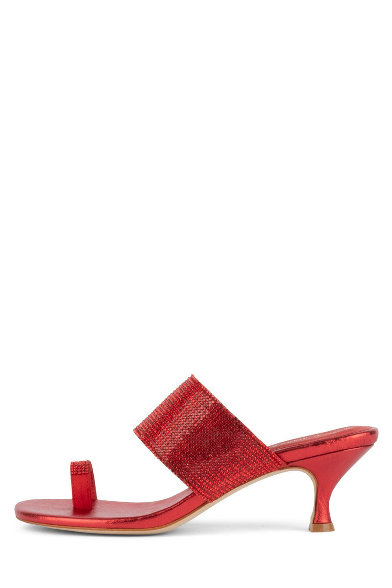 ELINA Heeled Sandal ST Red Combo 6