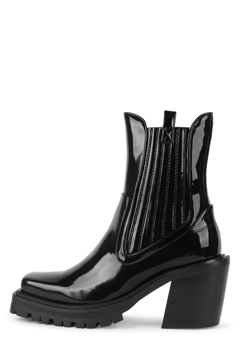 ELK Heeled Boot HS Black Patent 6