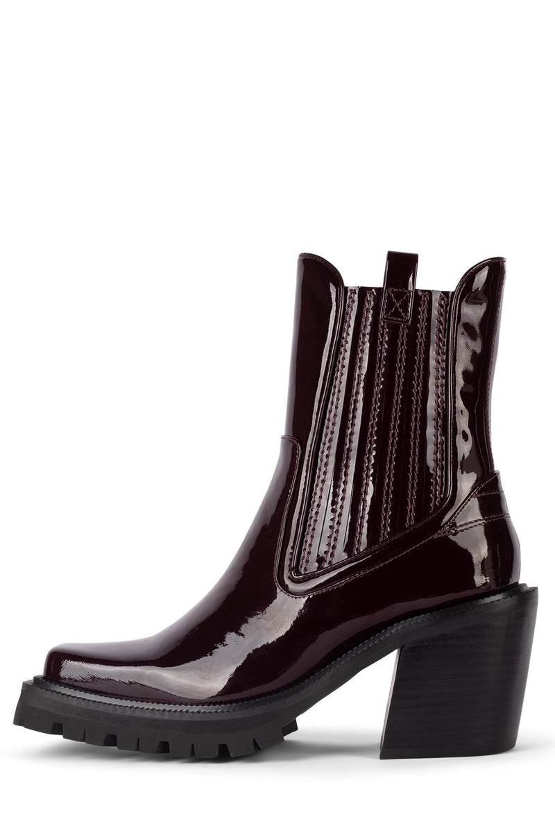ELK Heeled Boot HS Wine Patent 5