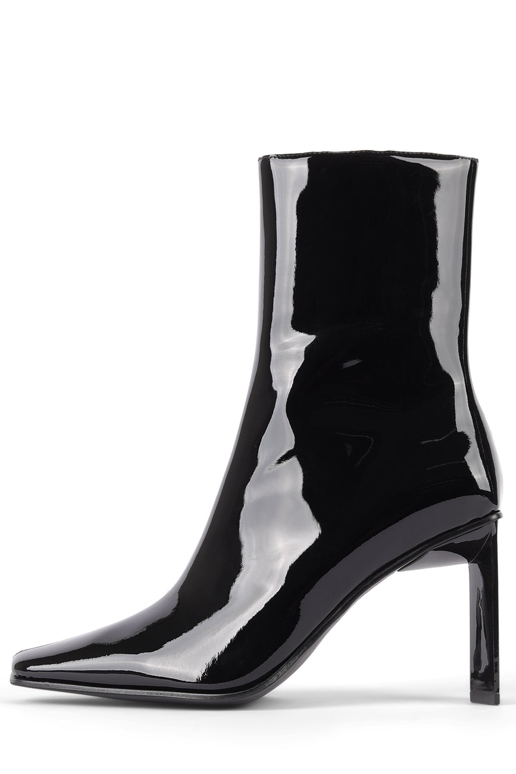 ELODIE-LO Heeled Bootie Jeffrey Campbell Black Patent 6
