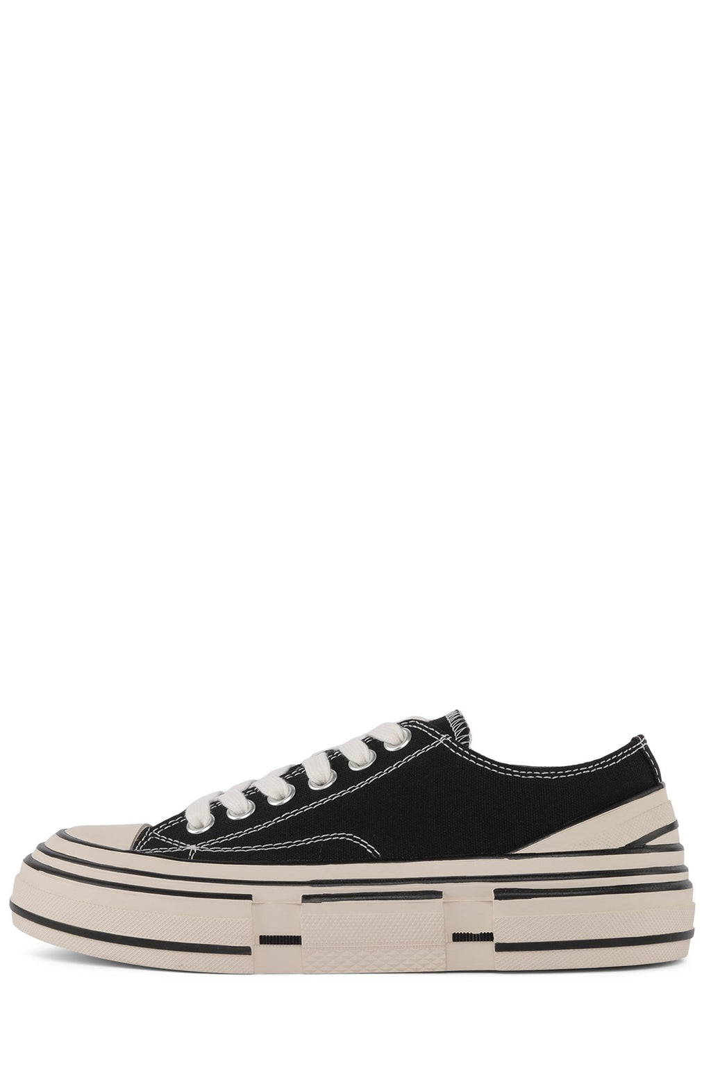 ENDORPHIN Platform Sneaker Jeffrey Campbell Black Canvas 6
