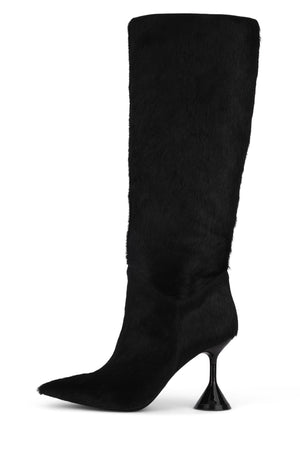 ENTITY-2F Knee-High Boot STRATEGY Black Long Hair 6