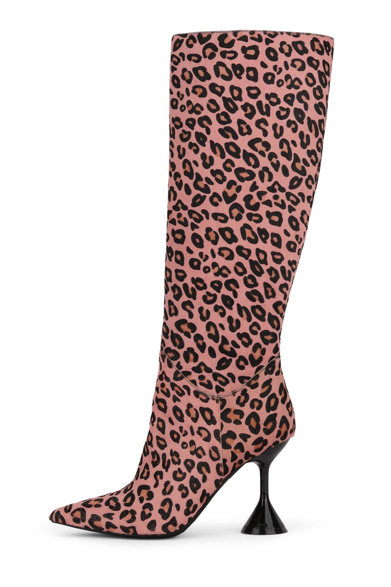 ENTITY-2F Knee-High Boot STRATEGY Pink Cheetah 6
