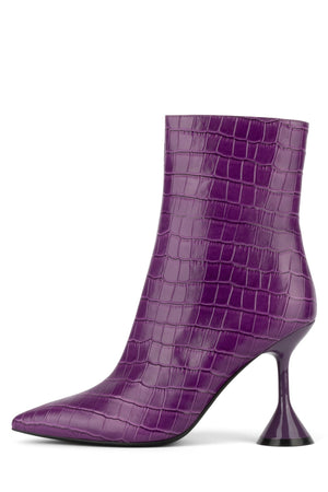 ENTITY-2L Heeled Bootie STRATEGY Purple Croco 6