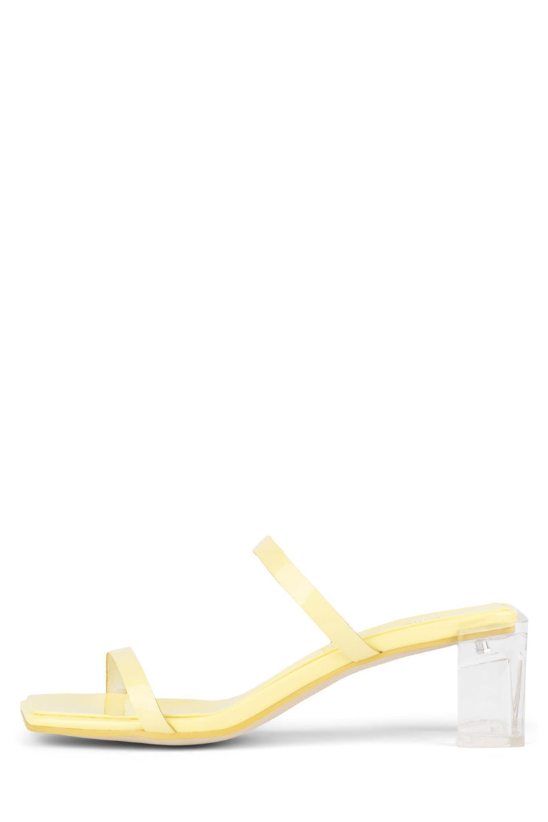 EPOXY Heeled Sandal YYH Yellow Patent Clear 6