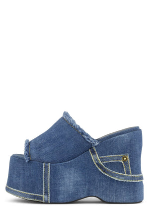 FAR-OUT-J Platform Sandal HS Blue Denim 6