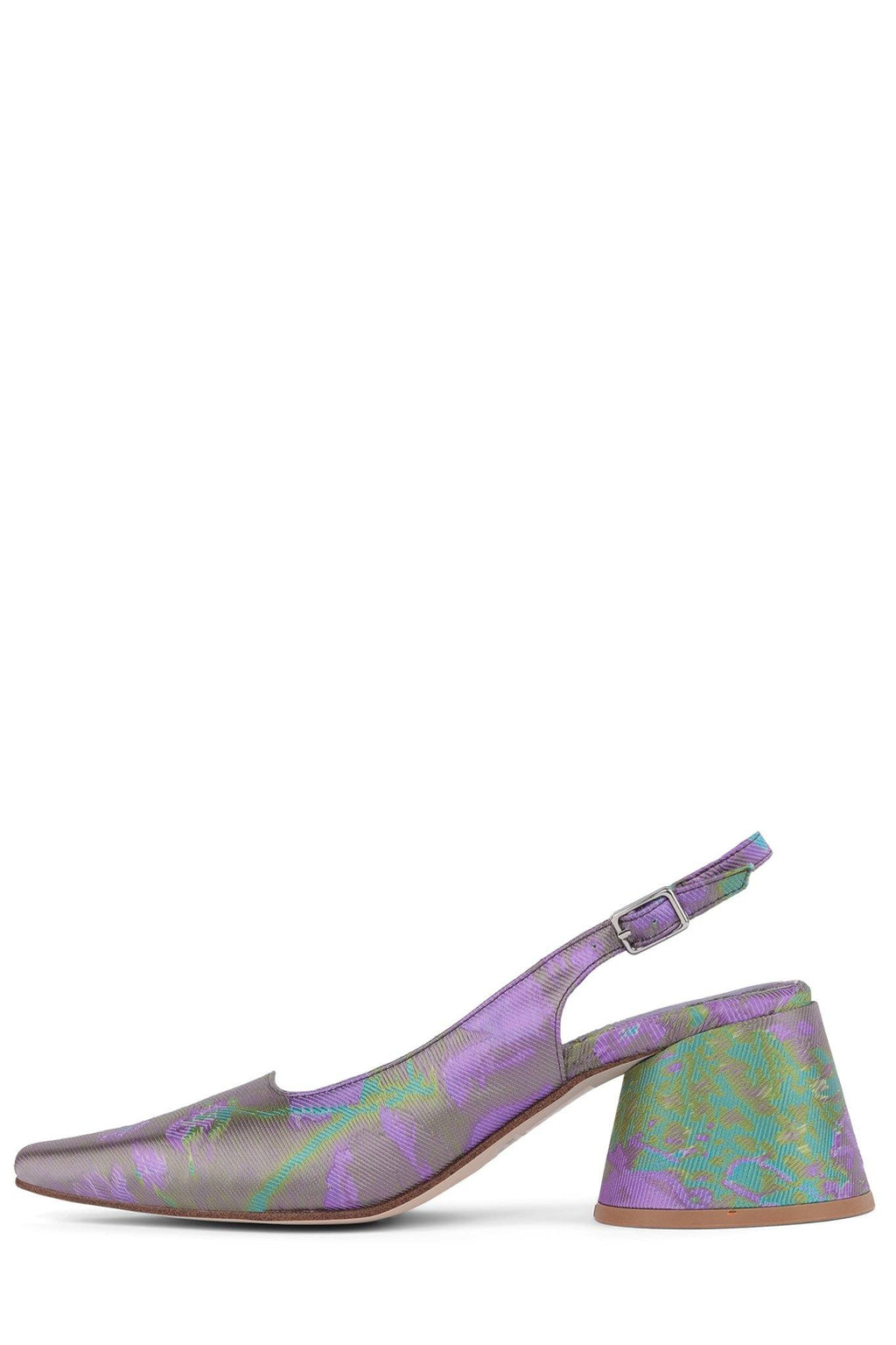 FERRA Pump YYH Purple Metallic Floral 6