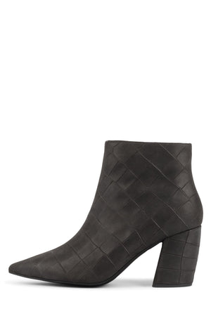 FINAL Heeled Bootie Jeffrey Campbell Dark Grey Big Croco 6