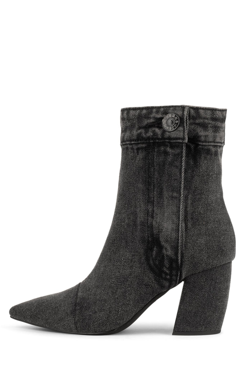 FINITE-JN Heeled Boot ST Black Denim 6