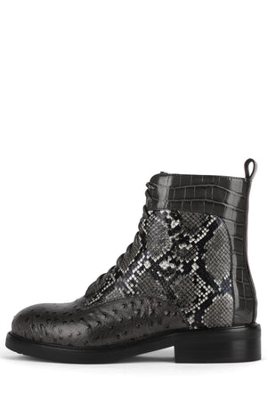 FISCHER Boot Jeffrey Campbell Grey Exotic Multi 6