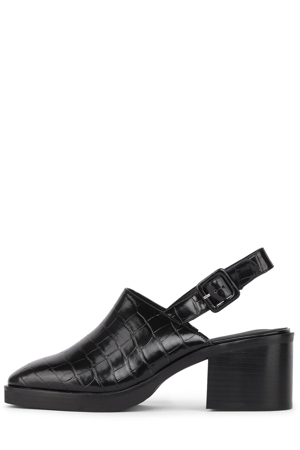 FRASER-HI Heeled Mule Jeffrey Campbell Black Croco 6